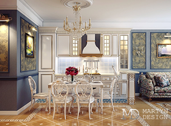 Дизайн-проект классической кухни-столовой