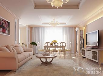 Современная классика в дизайне гостиной