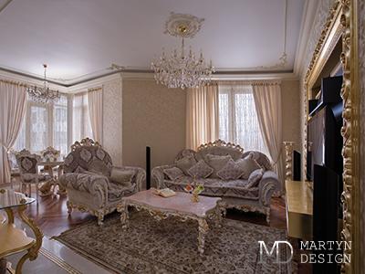 Дизайн дома в классическом стиле. Фото интерьеров