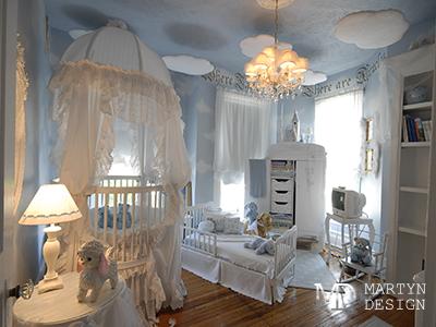 Дизайн классической детской комнаты для девочки. Французский будуар будущей балерины