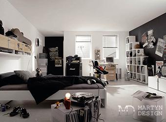 Дизайн-проект современной спальни для молодого человека