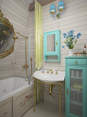 Дизайн душевой комнаты в загородном доме