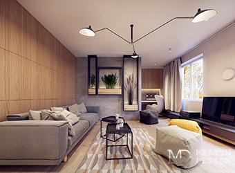 Дизайн спальни в стиле 60-х