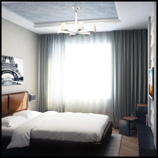 стиль фьюжн в спальне