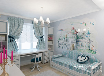 Интерьер детской комнаты для юной художницы