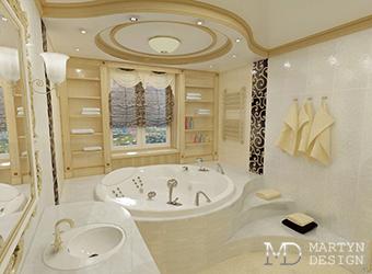 Оригинальное планировочное решение ванной комнаты