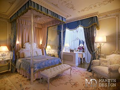 Бархат и парча в дизайне спальни