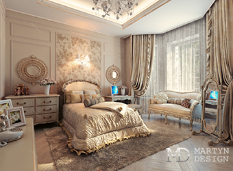Дизайн спальни для творческой юной особы