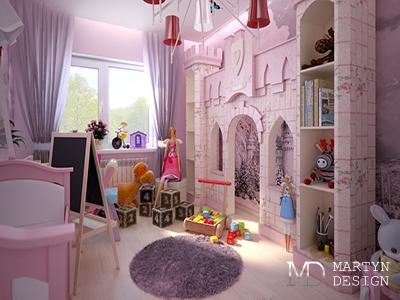 Дизайн гостевой детской комнаты для девочки