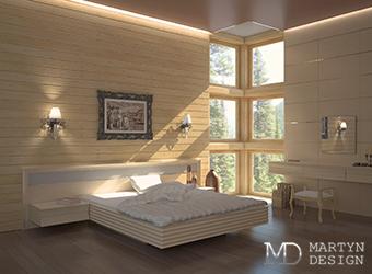 Три варианта дизайна спальни в загородном доме