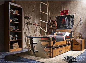 Ультрасовременная спальня для искателей авантюрных приключений