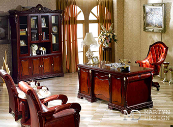 Дизайн кабинета в стиле ампир