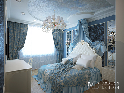 Дизайн зимней спальни в классическом стиле
