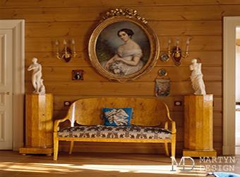 Фото готовых интерьеров усадьбы, стилизованной под чеховские времена