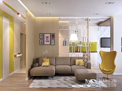 Дизайн 3-х квартир для одного заказчика