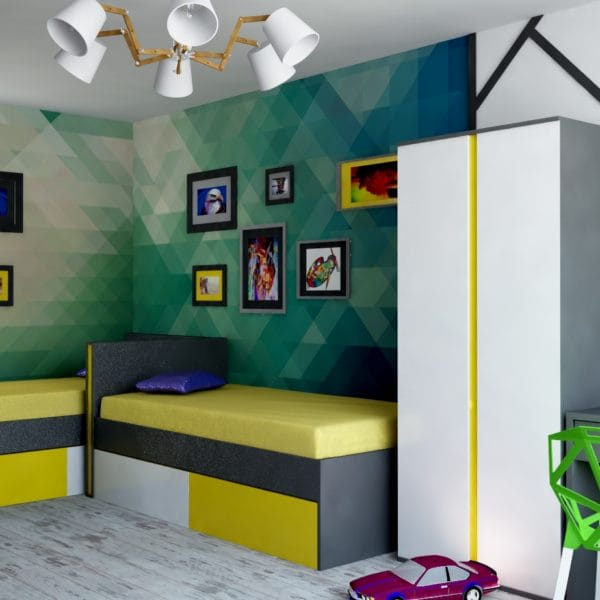 Дизайн-проект детской комнаты и спальни в ярких тонах