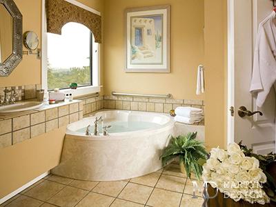 Дизайн бежевой ванной комнаты. Фото интерьеров