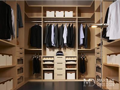 Дизайн бежевой гардеробной