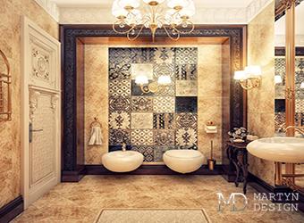 Дизайн-проекты винтажных ванных комнат