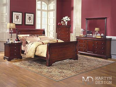 Дизайн интерьера бордовой спальни