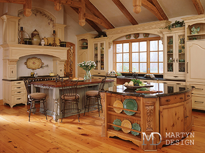 Дизайн кухни с элементами модерна и прованса