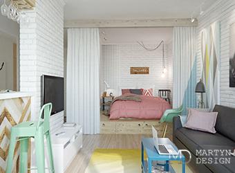 Как создать в однокомнатной квартире гостиную и спальню?
