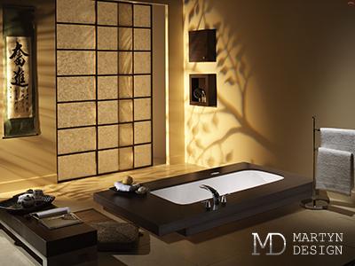 Дизайн интерьера ванной комнаты в японском стиле