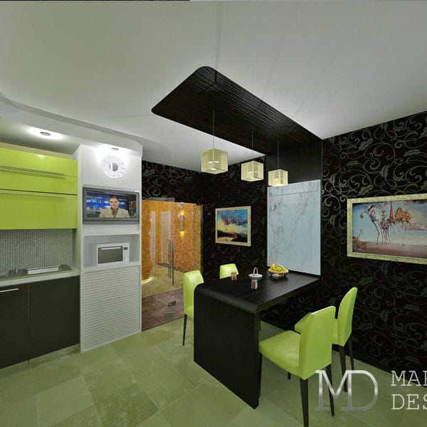 Дизайн проект трехкомнатной квартиры 80 кв. м