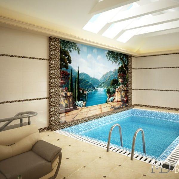 Дизайн зон для отдыха в частном доме – сауна, бильярдная комната, бассейн