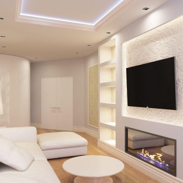 Дизайн-проект комнаты в стиле современной классики