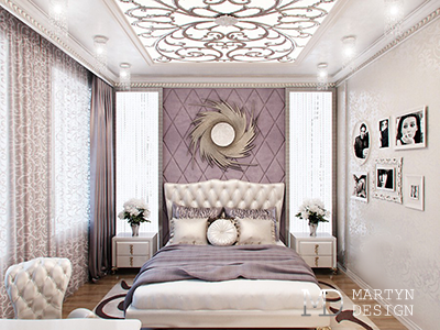 Дизайн интерьера спальни в стиле ар-деко