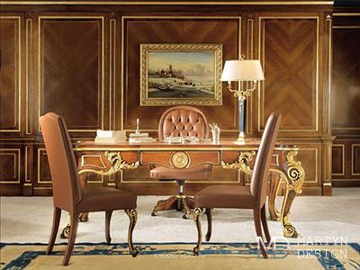 Винтажный декор в интерьере кабинета