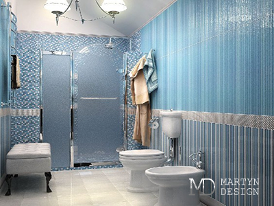 Дизайн бело-голубого санузла. Фото интерьеров санузла после ремонта