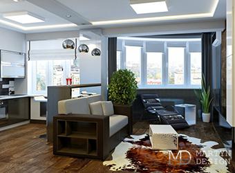 Интерьер квартиры после ремонта по дизайн-проекту нашей студии