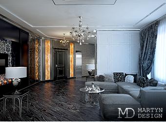 Элементы арт-деко в дизайне комнаты для отдыха