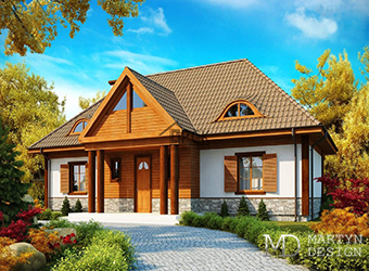 Проекты домов с мансардой в стиле ретро