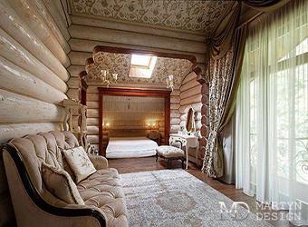 Элементы декора спальни в загородном доме