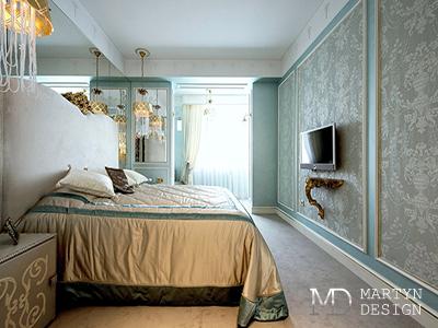 Дизайн интерьера спальни в духе французской классики