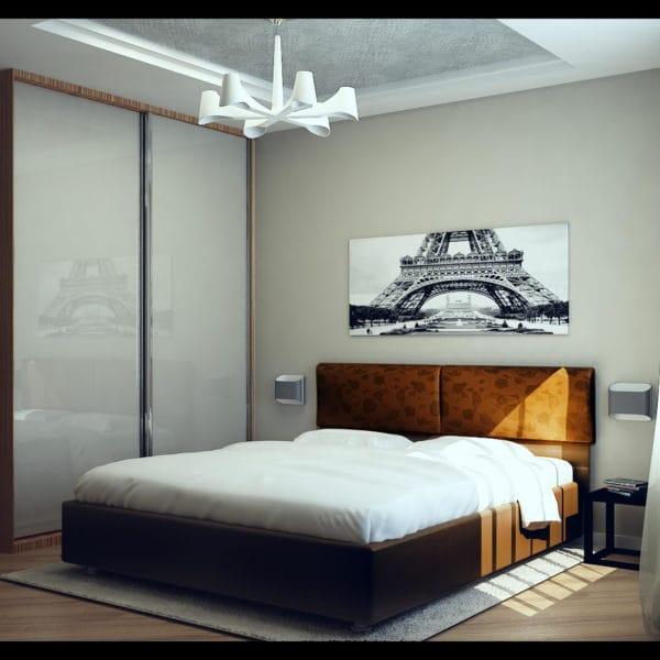 дизайн интерьера спальни в стиле фьюжн
