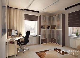 Дизайн маленького кабинета в квартире