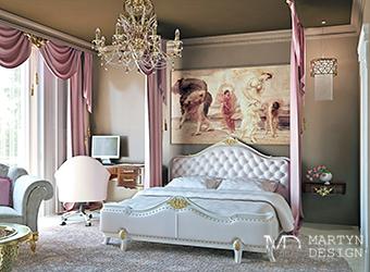 Реализованный дизайн-проект спальни для девушки
