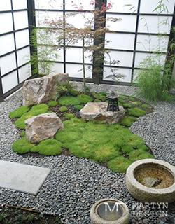 Японский садик на террасе загородного дома