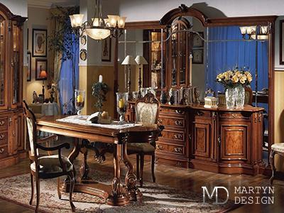 Дизайн интерьера винтажной гостиной-столовой
