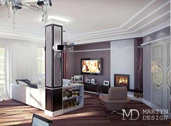 Изящное благородство интерьера гостиной в квартире-студии