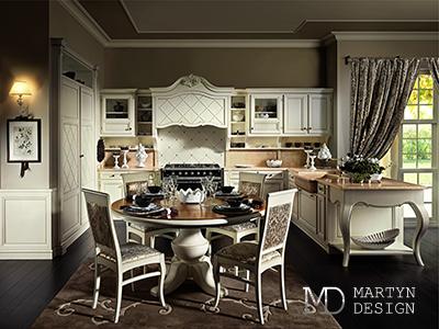 Дизайн кухни-столовой для светской леди
