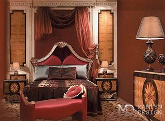 Интерьер артистической спальни с элементами ар-деко и рококо