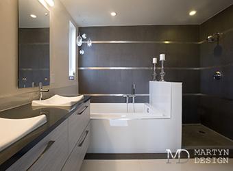 Интерьер ванной комнаты в стиле эко-минимализма