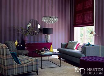 Оттенки фиолетового в интерьерах студии Мартин