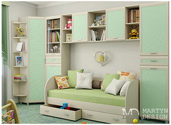 Мебельные конструкции в интерьере детской