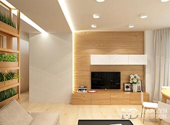 Минималистичный дизайн квартиры с эко-мотивами